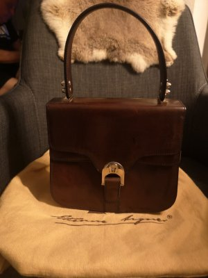 Aigner Handbag brown-bordeaux leather