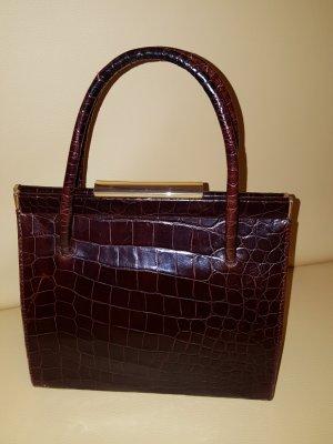 Handtasche aus geprägtem Leder in Vintage-Design