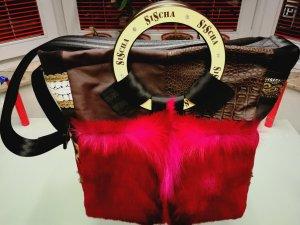 Handtasche aus Materialmix