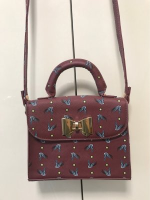 Lindy Bop Borsetta mini bordeaux-marrone-rosso