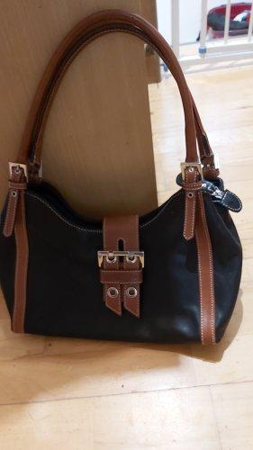 barbara Handtas zwart-bruin