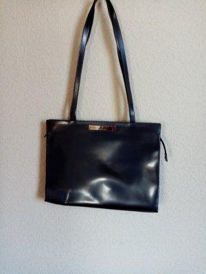 Aigner Handbag slate-gray leather