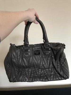 Handtasche Belmondo grau Bowlingbag kurzer Henkel 35 x 23 x 15 cm