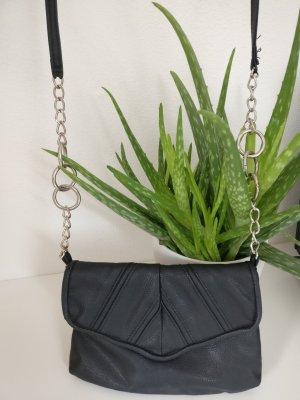 Handtasche Blanco schwarz mit Kette