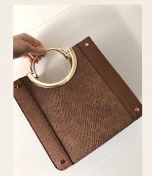 Handtasche Braun mit langem Henkel