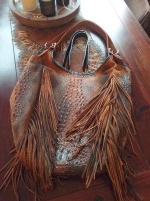 Fringed Bag black-brown