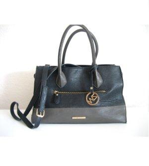 Handtasche Business-Look in schwarz/grau