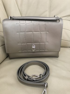 Cavalli Carry Bag gold-colored-silver-colored leather