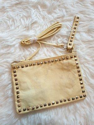 Handtasche Clutch Abendtasche Tasche mit Nieten in gelb