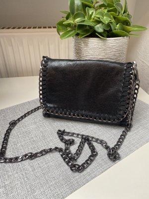 Handtasche/clutch schwarz glänzend