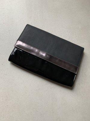 Handtasche Clutch schwarz Silber H&M