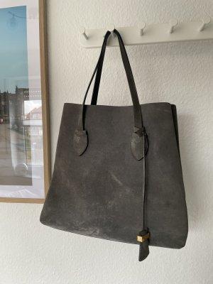 Handtasche Coccinelle grau Leder
