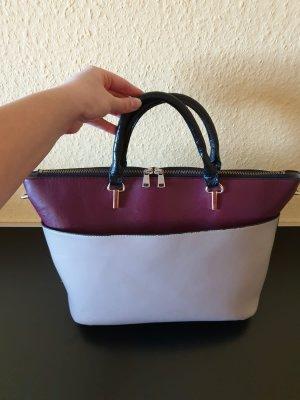 Handtasche Damentasche Tasche H&M bordorot grau
