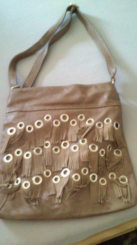 Bolso de flecos marrón claro
