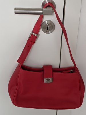 Etienne Aigner Satchel red leather