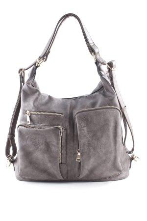 Handtasche graubraun-taupe klassischer Stil