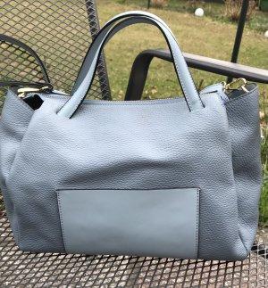 Handtasche hellblau Leder Tasche