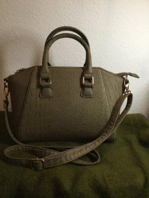 ❤️ Handtasche in Olivgrün Schlangenoptik