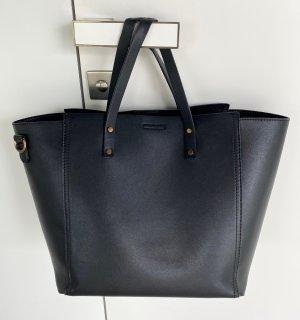 Handtasche in Schwarz mit Abnehmbarem Schultergurt