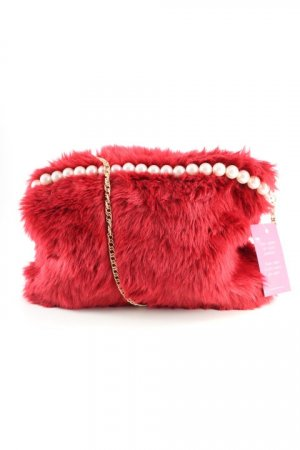 Handtasche karminrot extravaganter Stil
