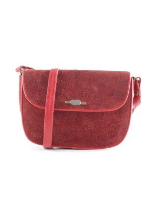 Handtasche karminrot klassischer Stil