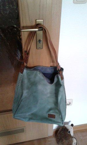 Handtasche Kunstleder dunkelmint Emily & Noah