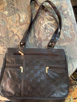 Handtasche Leder braun unbenutzt