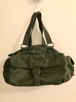 Handtasche Leder grün