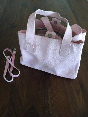 Handtasche Leder rosa