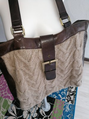 Handtasche Leder/Strick Marc O' Polo