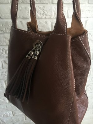 Borse in Pelle Italy Carry Bag brown leather