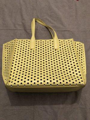Handtasche | Lochmuster | Gelb