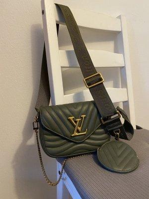 Louis Vuitton Enveloptas khaki Leer