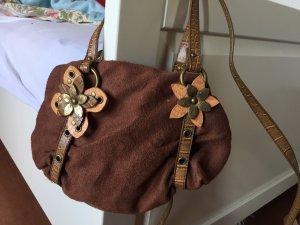 Handtasche mit Blumenapplikation