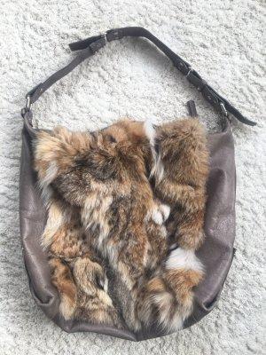 Handtasche mit echten Fuchsfell