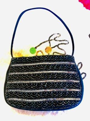 Handtasche mit Glasperlen und Pailletten