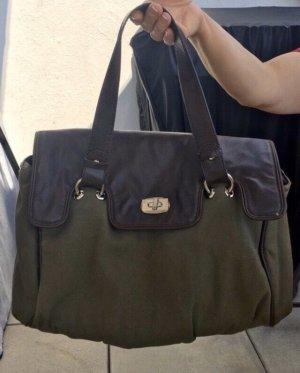 Handtasche mit halber Lederoptik