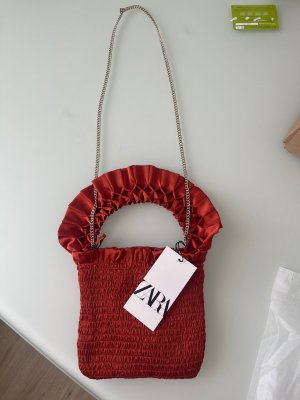 Handtasche neu zara rot