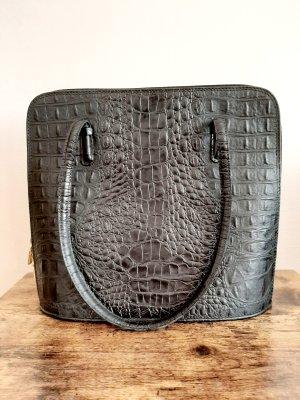 Handtasche Ottonato schwarz genuine Leder