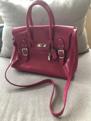 Handtasche pink mit Applikationen