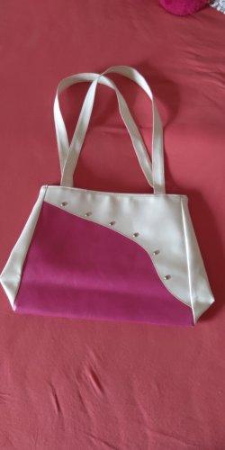 Handtasche pink/weiß