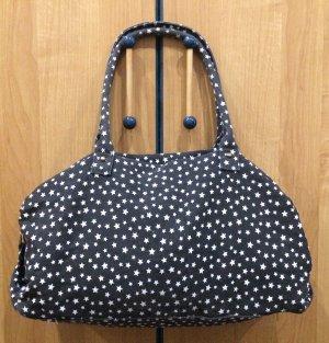 Handtasche / Reisetasche dunkelblau mit Sterne