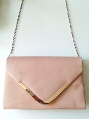 Handtasche rosa Clutch Kette gold