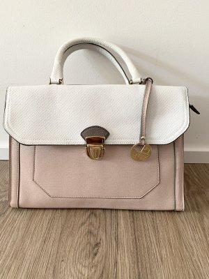 Handtasche rosa weiß