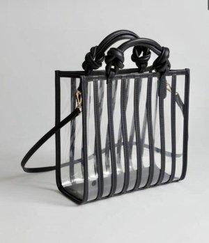 Handtasche Schultertasche &otherstories schwarz Leder durchsichtig