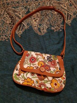 Handtasche Schultertasche Tasche mit verstellbaren Trägerriemen und Blumenmotiv von Deichmann / WIE NEU