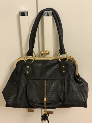 Bolso negro-color oro