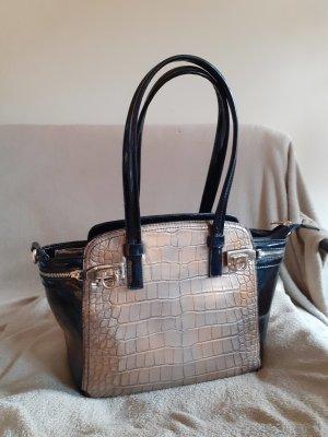 Handtasche Schwarz & Bronzefarben