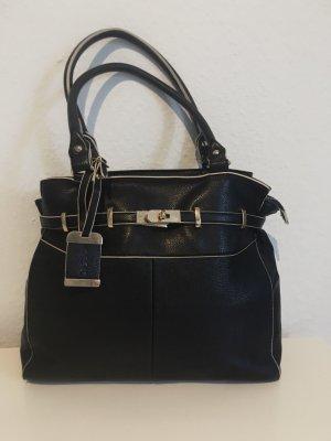 Handtasche schwarz/Creme von Oasis