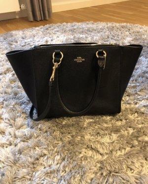 Handtasche schwarz Gold Coach neu shopper Mode Blogger Umhängetasche